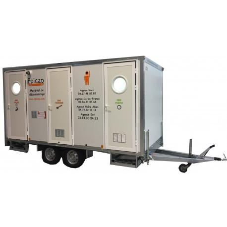 Unité de décontamination mobile 5 compartiments 2 douches EPIROLL 5E