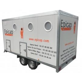 Unité de décontamination mobile EPIROLL 5 Compartiments 2 douches 2 essieux