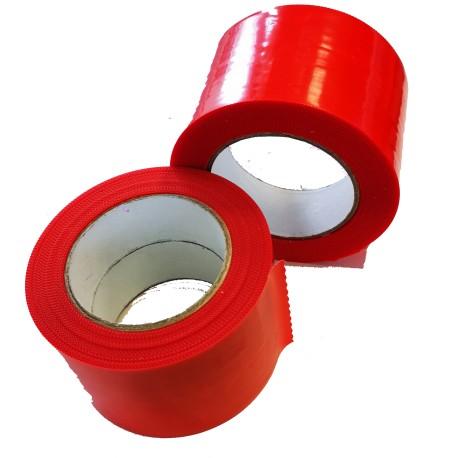 Adhésif type POLYFLEX polyéthylène rouge 75mm x 33m