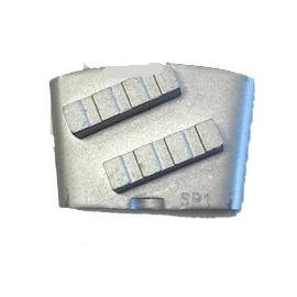 Outils diamantés HTC préparation de sol dur EZ GL0 double segments Violet