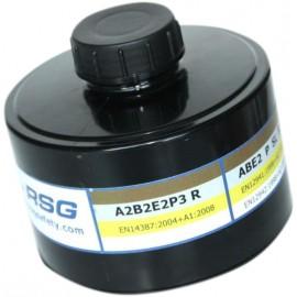 filtre ABEK2P3 RSG gaz, vapeurs organiques et inorganiques