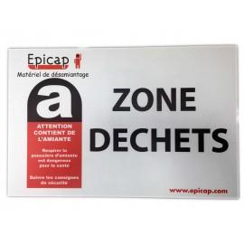 Panneau Zone Déchets 600 x 400