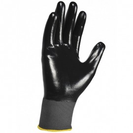 12 Gants de manutention Amiante Nylon enduit Nitrile noir EPIGLOVES XL