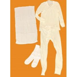 5 Lot de Sous-vêtements coton hiver: caleçon, sweatshirt, chaussette,serviette