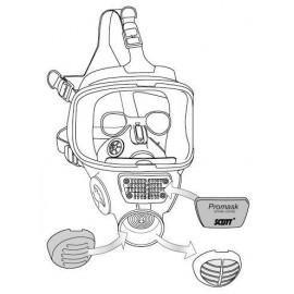 Monture de lunettes lunette (metallique) adaptable sur masque VISION SCOTT