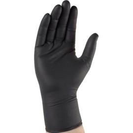 Gant nitrile noir non poudré à usage unique (100pcs) BLACK 4.5g Taiile 10