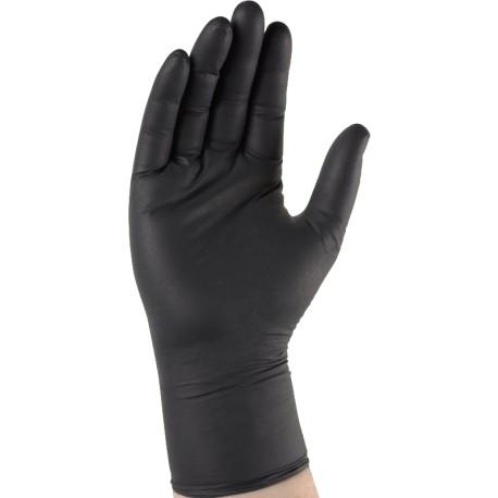 Gant nitrile noir non poudré à usage unique (100pcs) BLACK 4.5g Taiile 9