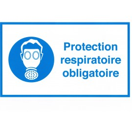 Étiquette protection respiratoire obligatoire par lot de 10