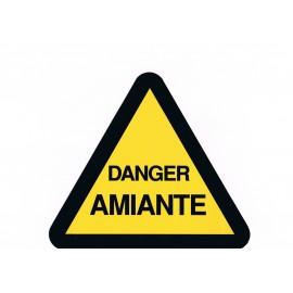 Étiquette DANGER AMIANTE 20 X 20 cm par lot de 10