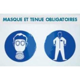 Panneau Masque et tenue obligatoires - 118 x 78 cm