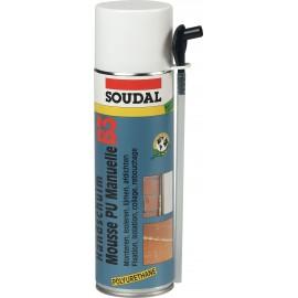 Bombe de mousse Polyuréthane SOUDAL 500 ml