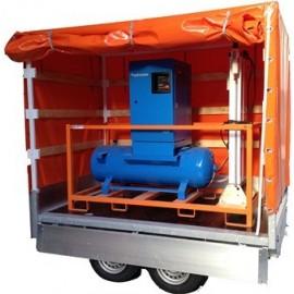 Ensemble d'air respirable 75.6 m3/h sur remorque