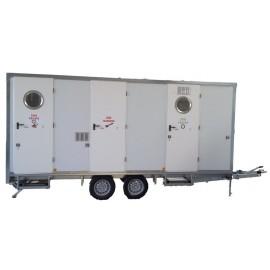 Unité de décontamination mobile EPIROLL 5E 2 douches 5 compartiments 5 métres