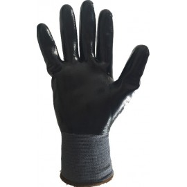 10 Gants de manutention Amiante Nylon enduit Nitrile noir EPIGLOVES XXL