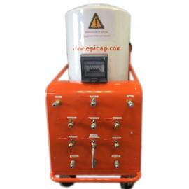 Unité de chauffage et filtration 300L 2 douches avec mitigeurs