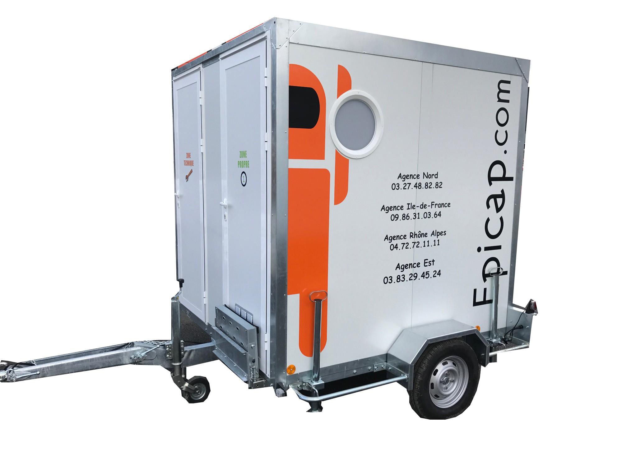 Unité Mobile de Décontamination EPIROLL 3E 3compartiments 1ou 2 douches